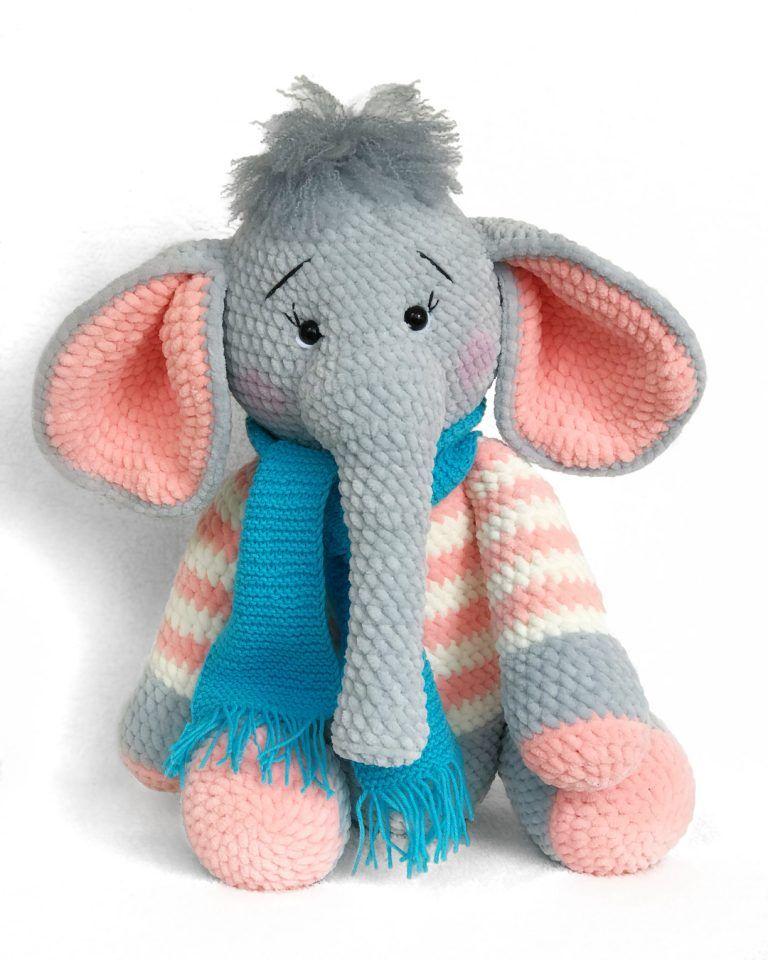 Elephant Amigurumi - Free Crochet Pattern • Craft Passion | 960x768