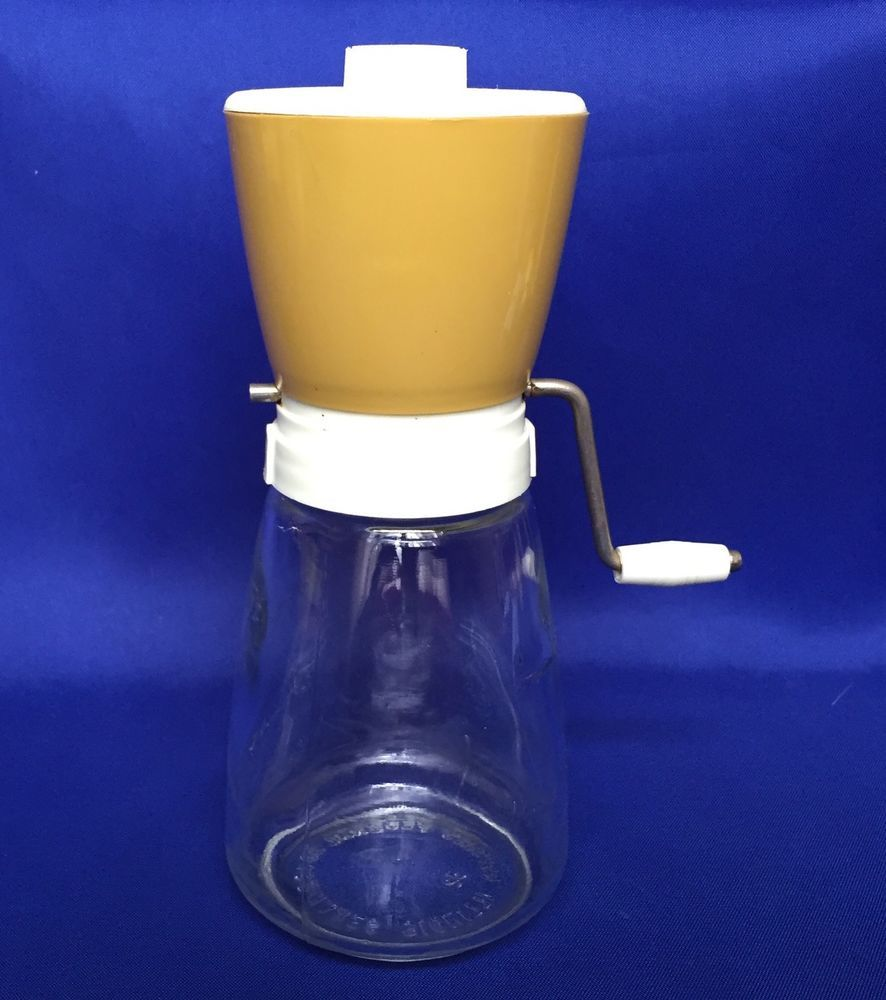 Vintage Nut Grinder Federal Housewares Glass and Plastic Spice Coffee With Top