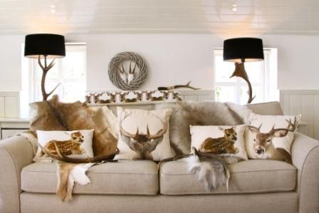 Tochtkussen canvas hert voor canvas dieren kussens gregory