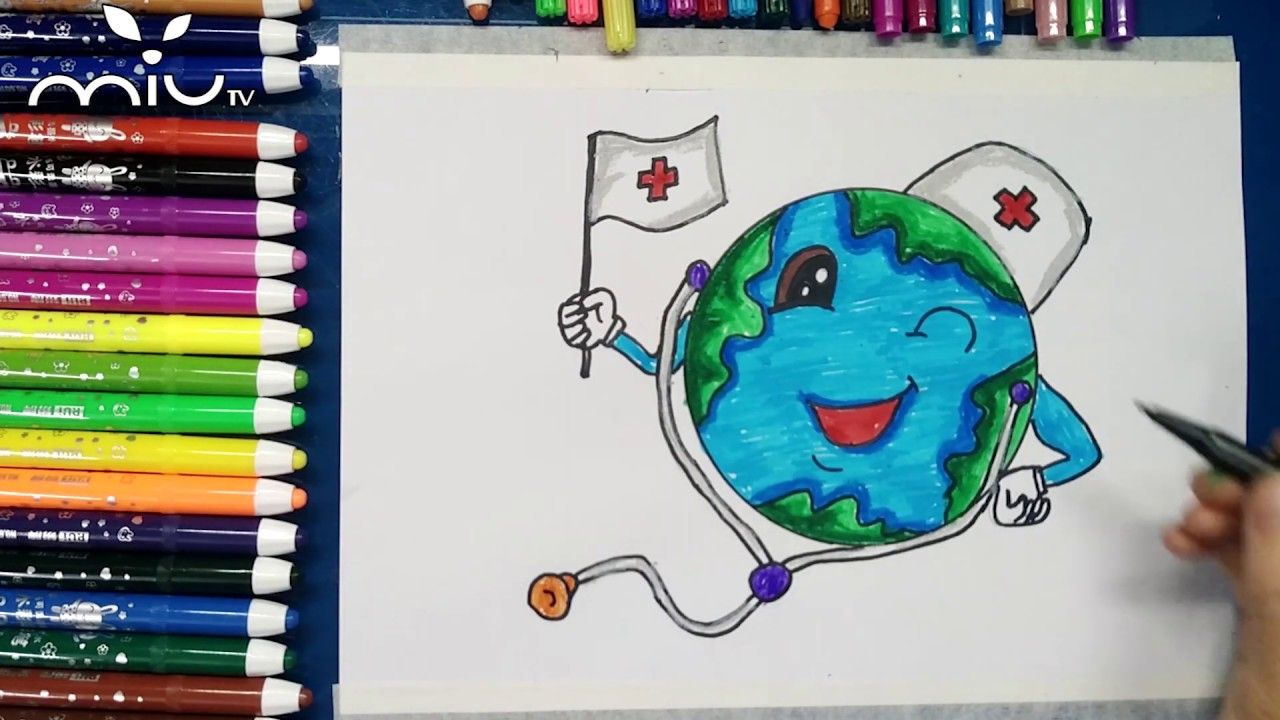 Health care poster drawing