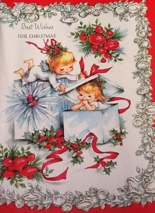 Weihnachtsgrüße Vintage.Best Wishes For Christmas Vintage Christmas Cards Angels