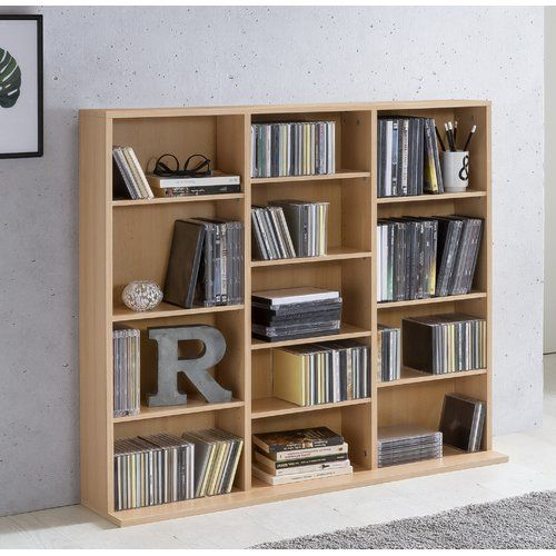 Marlow Home Co Willow Bookcase Solid Wood Shelves Global