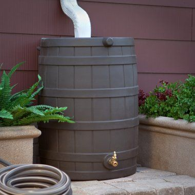Rain Barrel - Good for watering plants! Use left over rain water instead of water hose and spending money!!!
