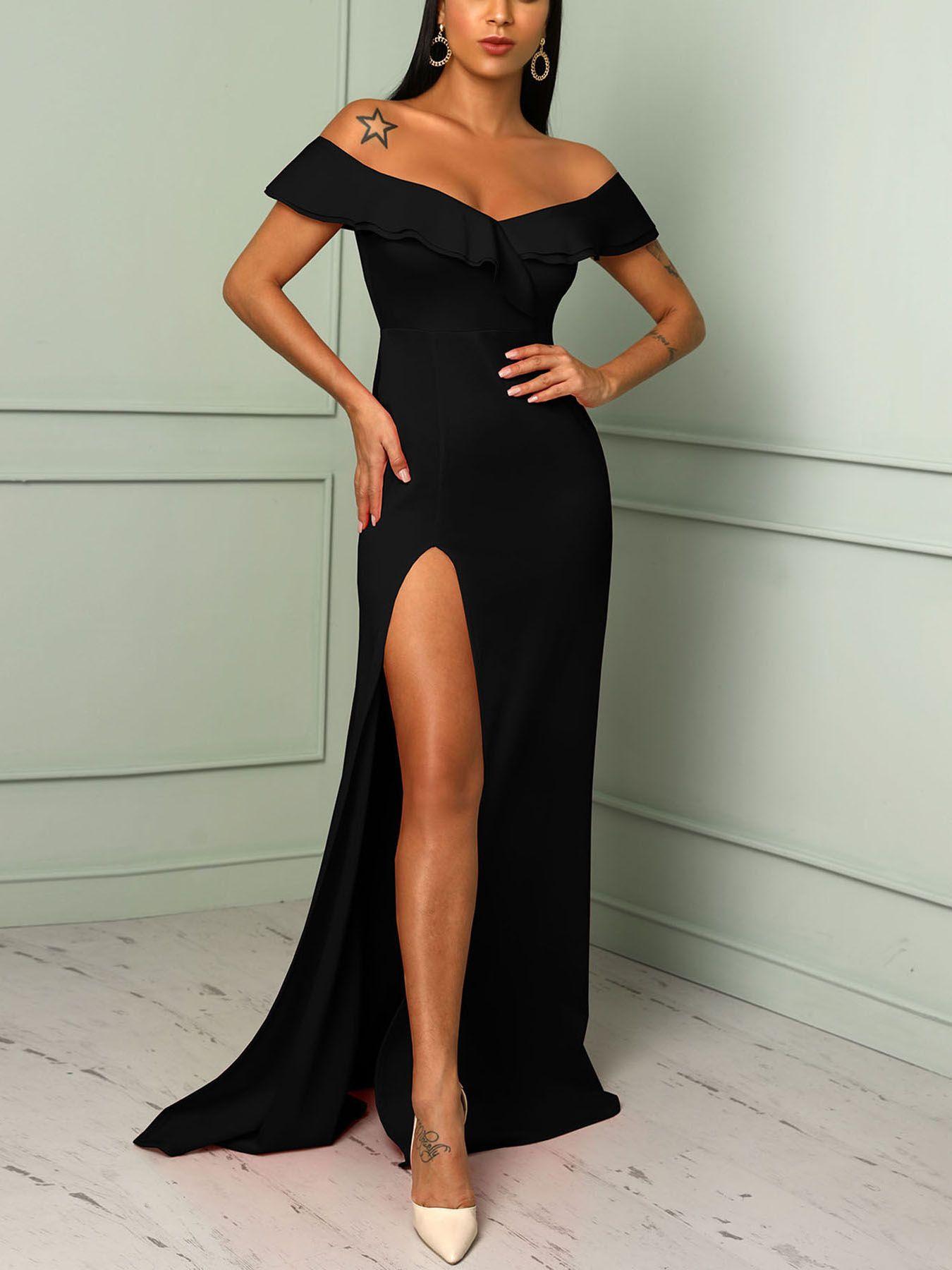 16+ High slit maxi dress ideas
