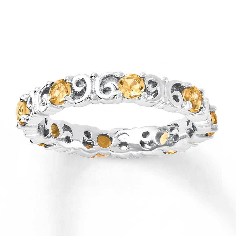 Jared Stackable Ring Citrines Sterling Silver My Style