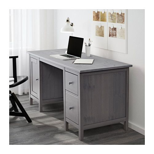 Hemnes Desk Dark Gray Gray Stained 61x25 5 8 Grey Desk