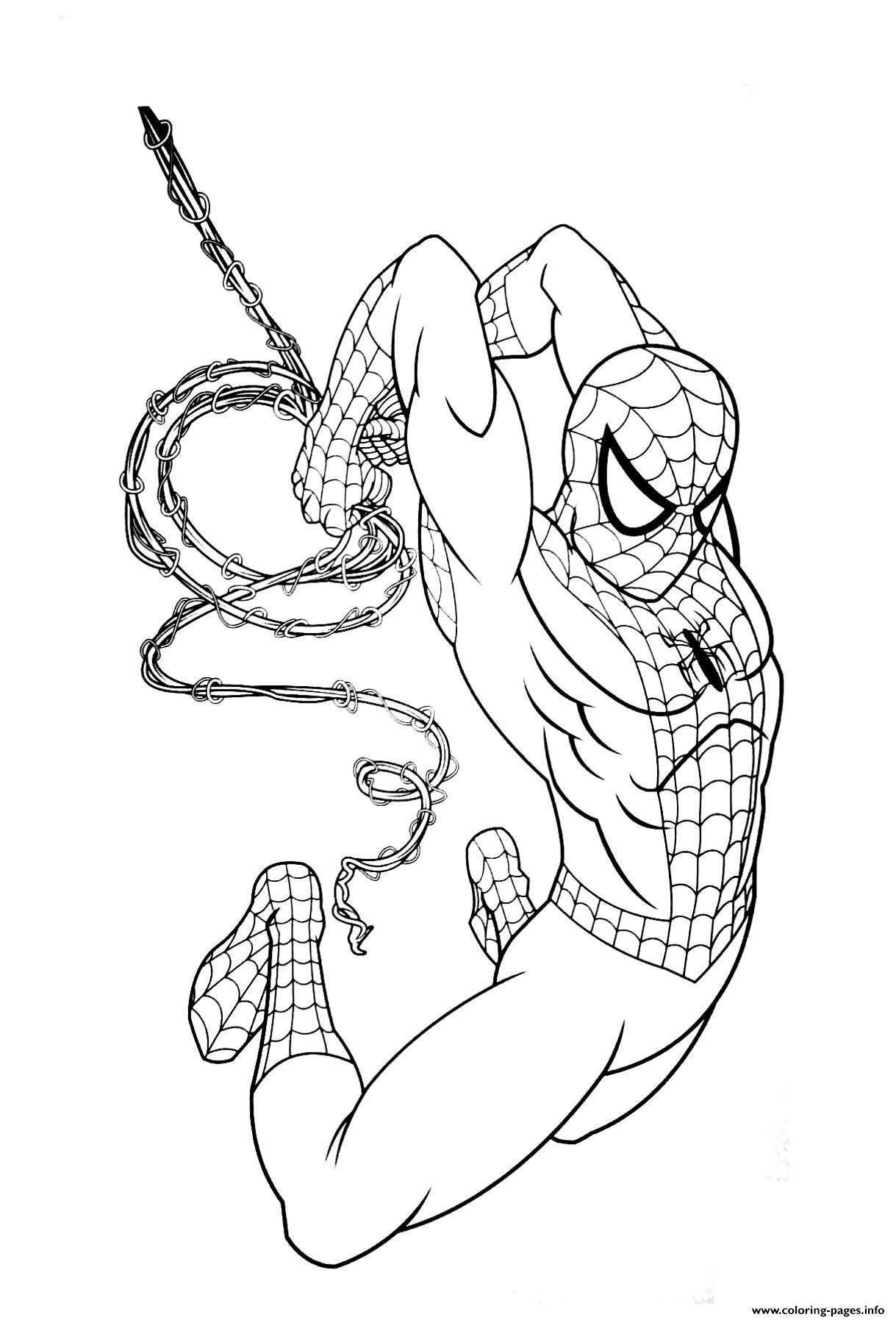 Spiderman Coloring Superhero Coloring Pages Superhero Coloring
