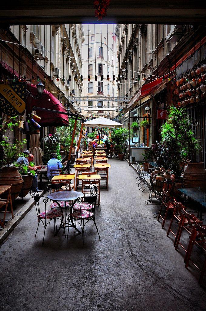 A Street Cafe in Beyoglu - Istanbul ,Turkey