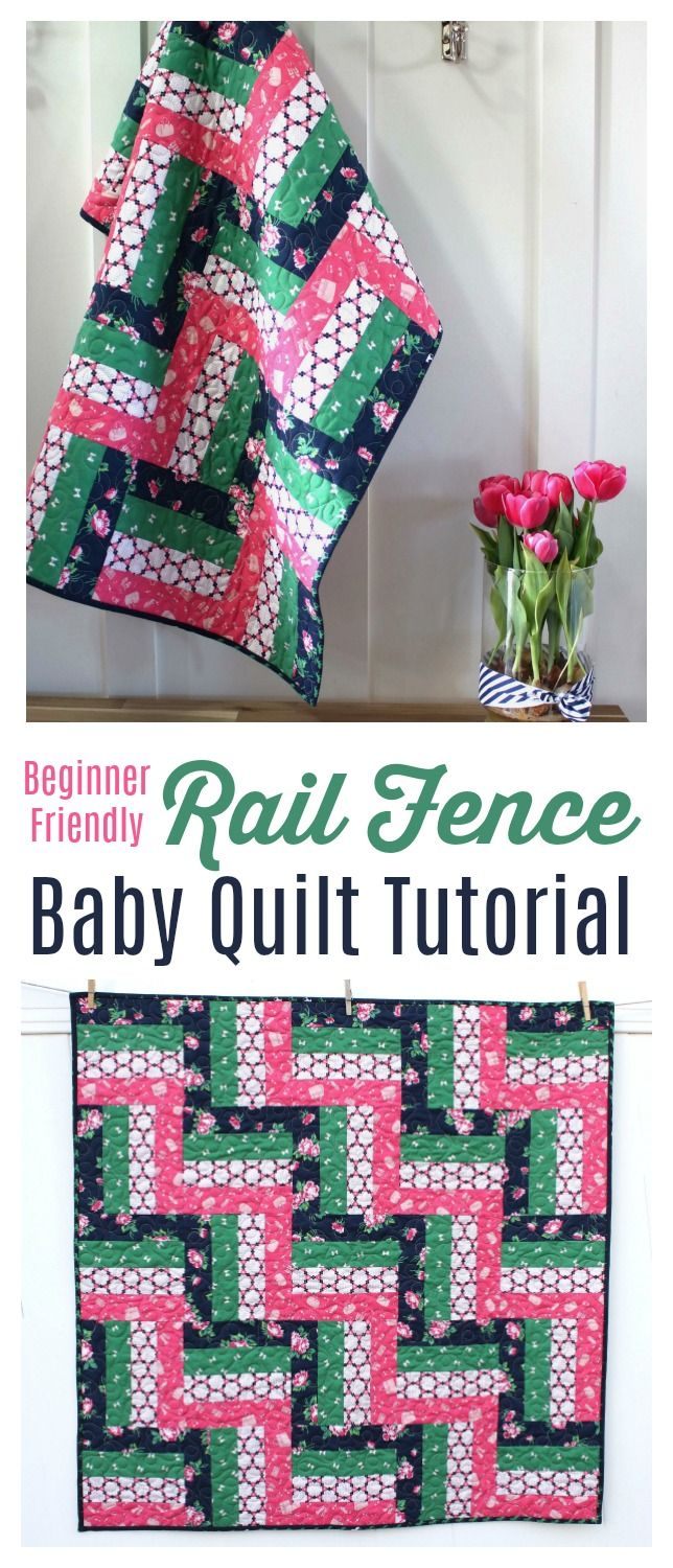 Rail Fence Baby Quilt Tutorial Beginner Friendly Inspiration