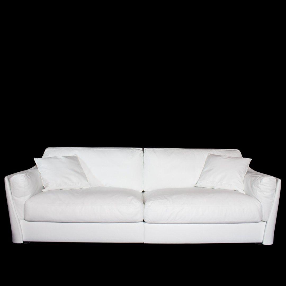 "White Leather ""Vittoria"" Sofa at DecorNYC Sofa"