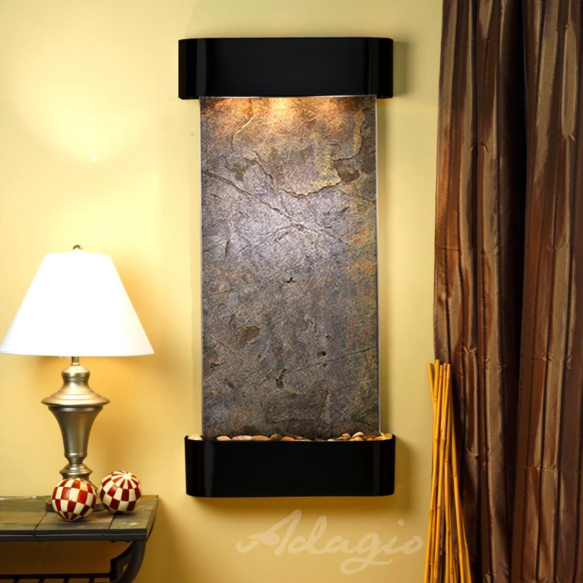Adagio Cascade Springs Fountain with Blackened Copper Finish and ...
