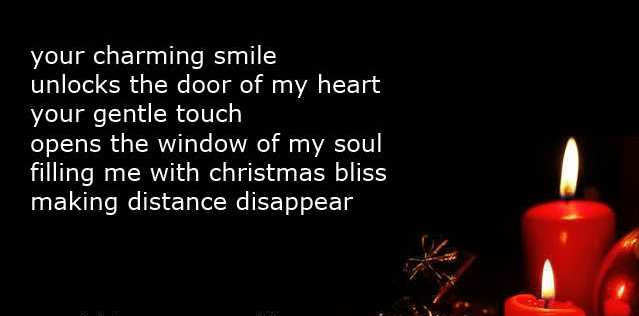 short christmas love poems with candle | Cute Love Quotes for Her ...