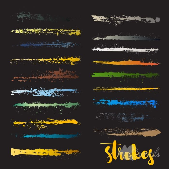 http://crencils.com/downloads/free-set-of-colorful-grunge-strokes-vector/