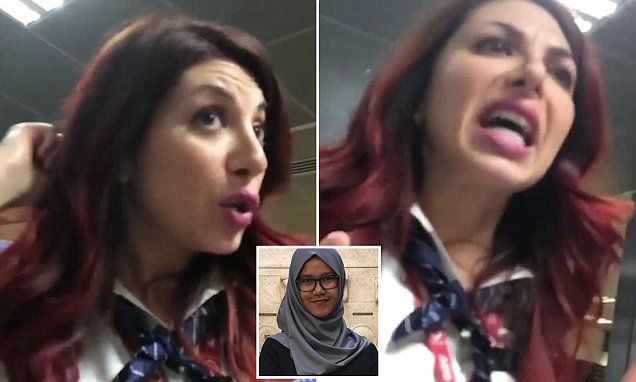 Photo of Muslim films staff REFUSING to allow her on flight wearing hijab