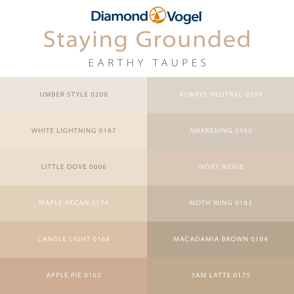 Earthy taupe paint colors for your whole home. Warm ...
