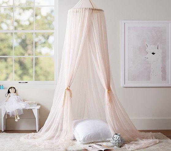 Glitter Tulle Canopy | Pottery Barn Kids & Glitter Tulle Canopy | Pottery Barn Kids | Ruby Willow | Pinterest ...