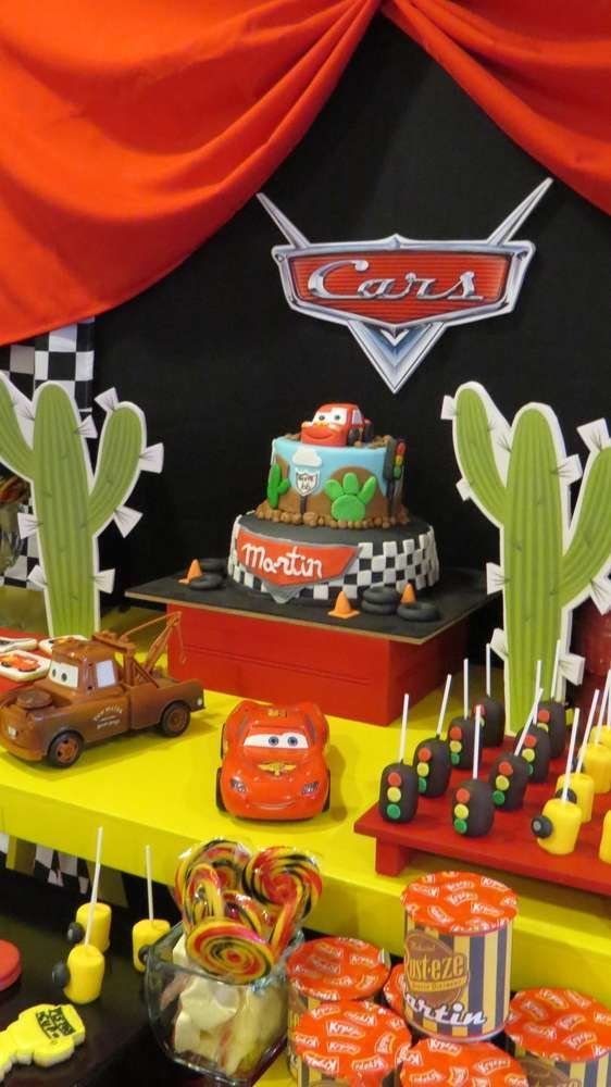 Amazing Cars Themed Birthday Party Decorating Ideas Part - 7: Check Out This Disney Cars Birthday Party! See More Party Ideas At  CatchMyParty.com
