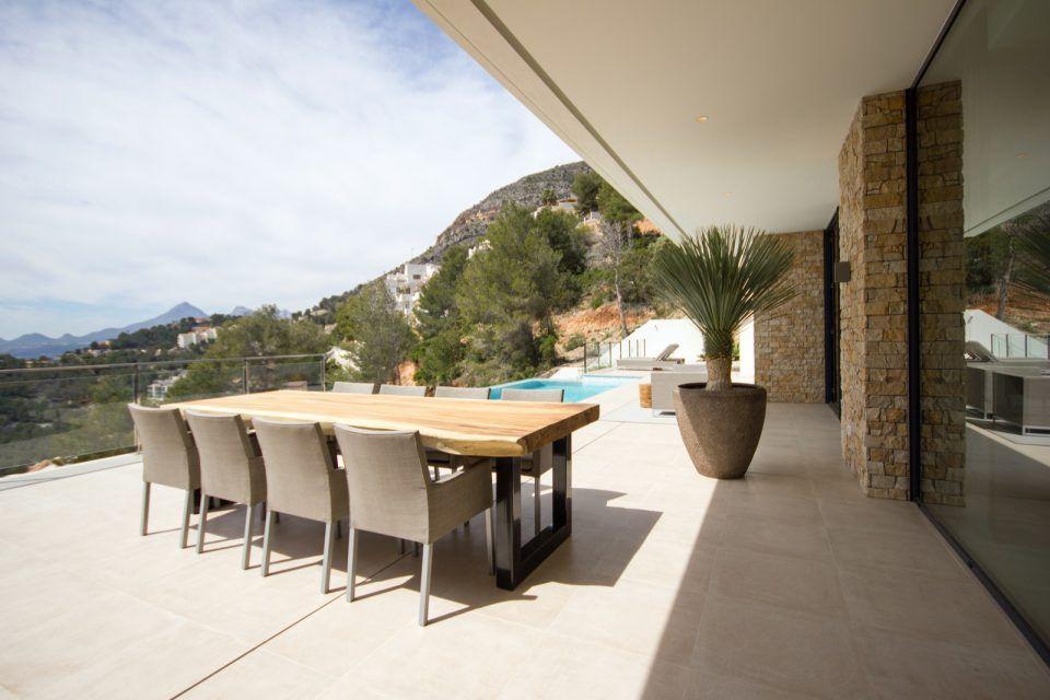 Luxe tuin met design tuinmeubelen veranda ideas outdoor
