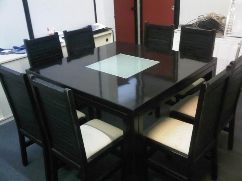 Fetching Black Square Dining Table For 8