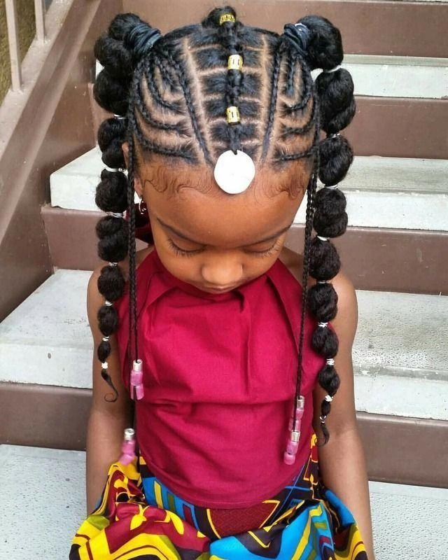African American Little Girl Braids Naturalhairstyles Kids Braided Hairstyles Natural Hair Styles Black Kids Hairstyles