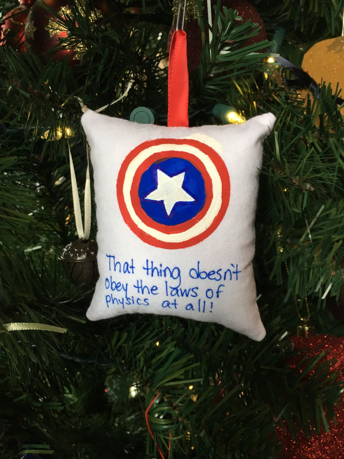Captain America Laws Of Physics Christmas Ornament Marvel Avengers Super Hero Iron How To Make Ornaments Christmas Decorations Ornaments Christmas Ornaments