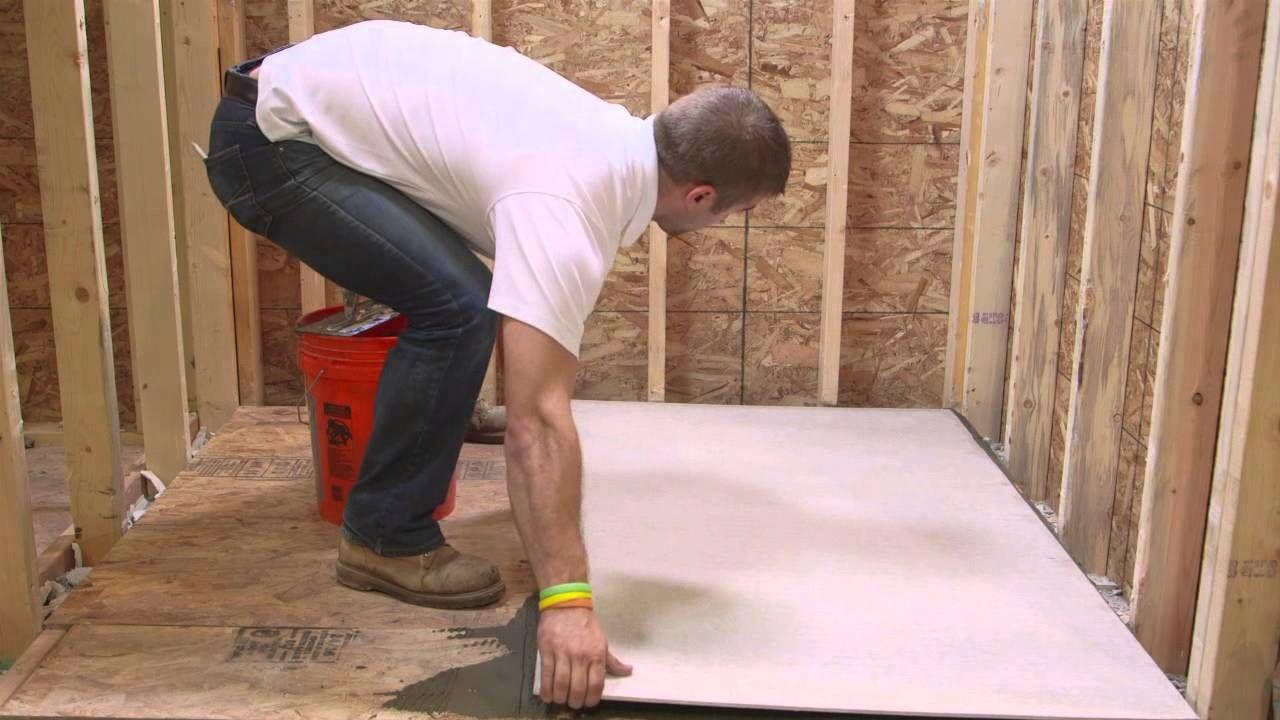 Installing HardieBacker Cement Board Series Floor Install