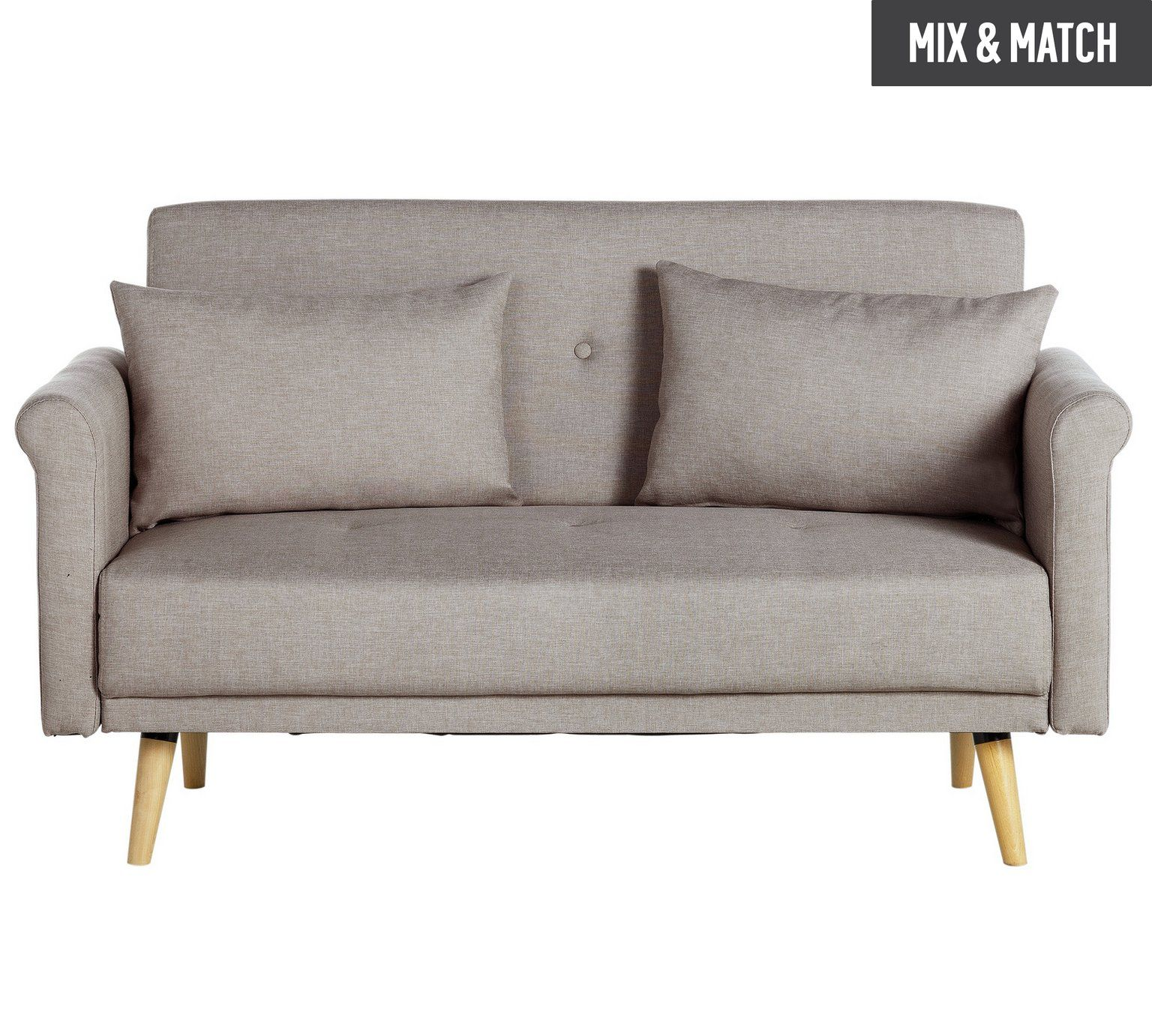 Buy Argos Home Evie 2 Seater Fabric Sofa In A Box Natural Sofas Natural Sofas Fabric Sofa Argos Home