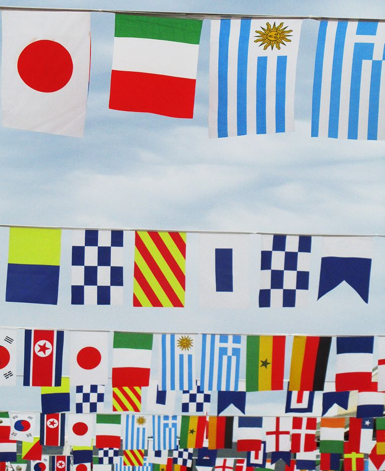 Pretty Flags A Nod To The Diversity Of Flavours At The Oysterfest