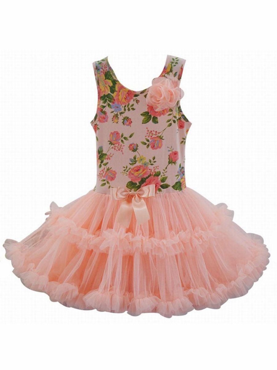Popatu Peach Rose Petti Dress | Tutus | Pinterest