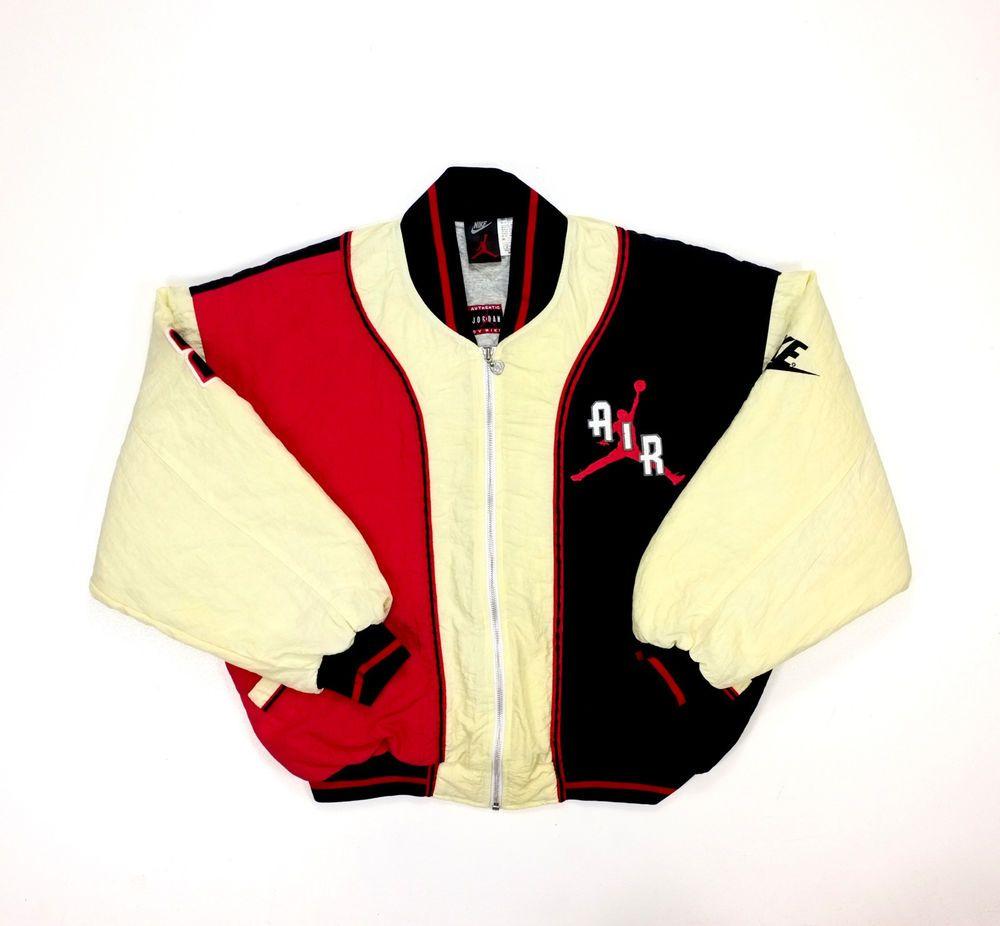Nike Air Jordan Padded Bomber Jacket Rare 90s Vintage Padded Bomber Jacket Air Jordan Jacket Jordan Jackets
