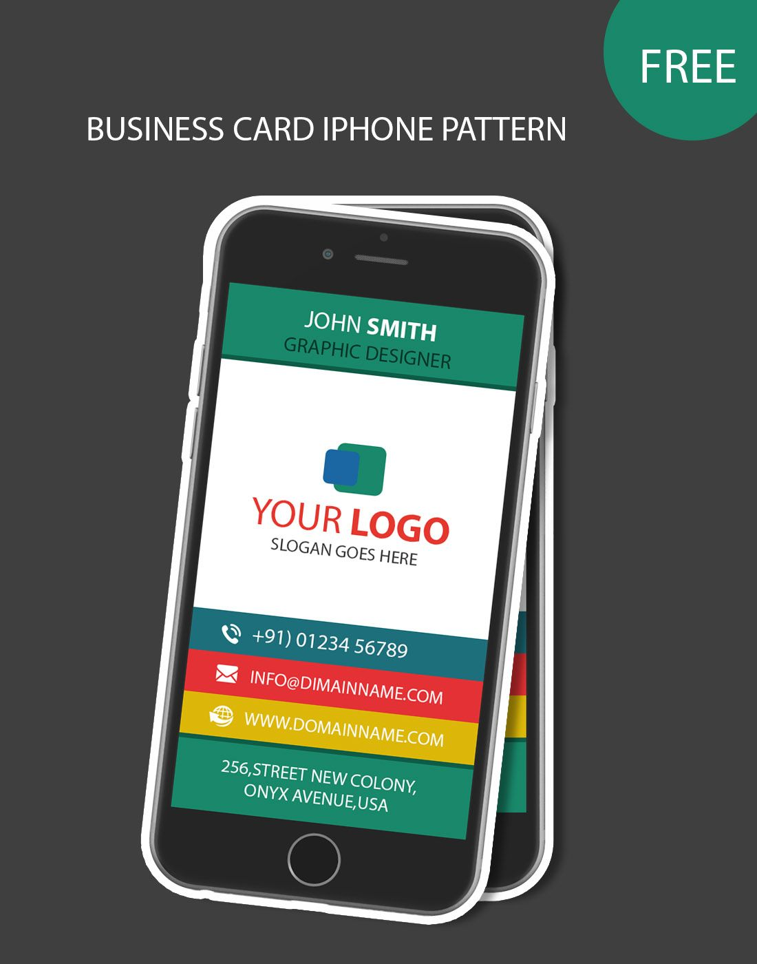Iphone pattern business card business card templates pinterest iphone pattern business card free business card templates free business cards templates free wajeb Gallery
