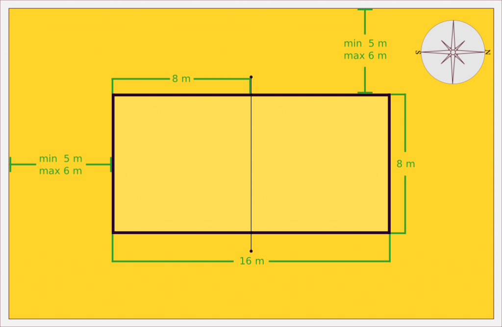 Beach Volleyball Court Diagram Best Time Dimensions Patra Idees