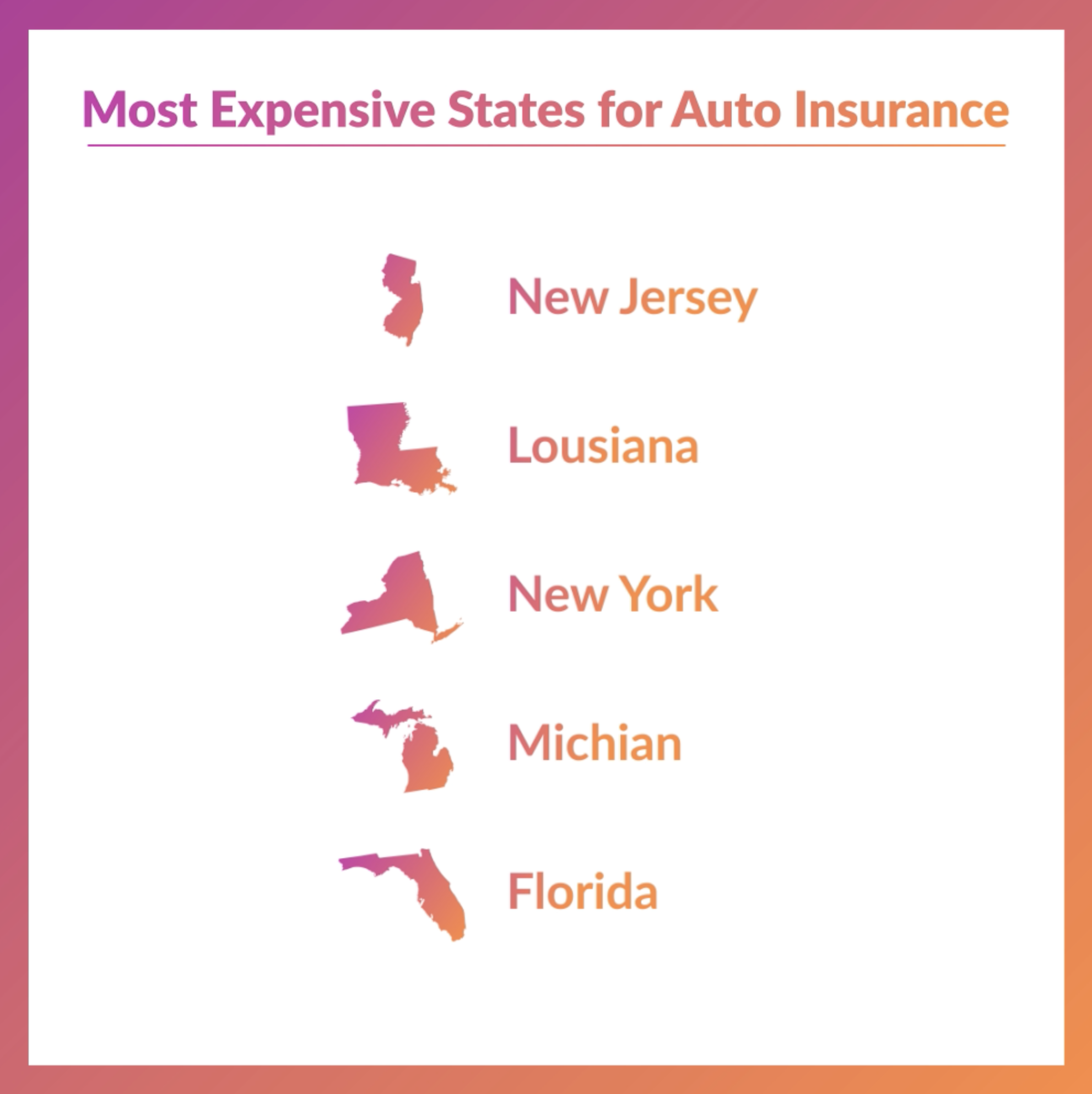 The Cost Of Autoinsurance Depends On Where You Live If You Live