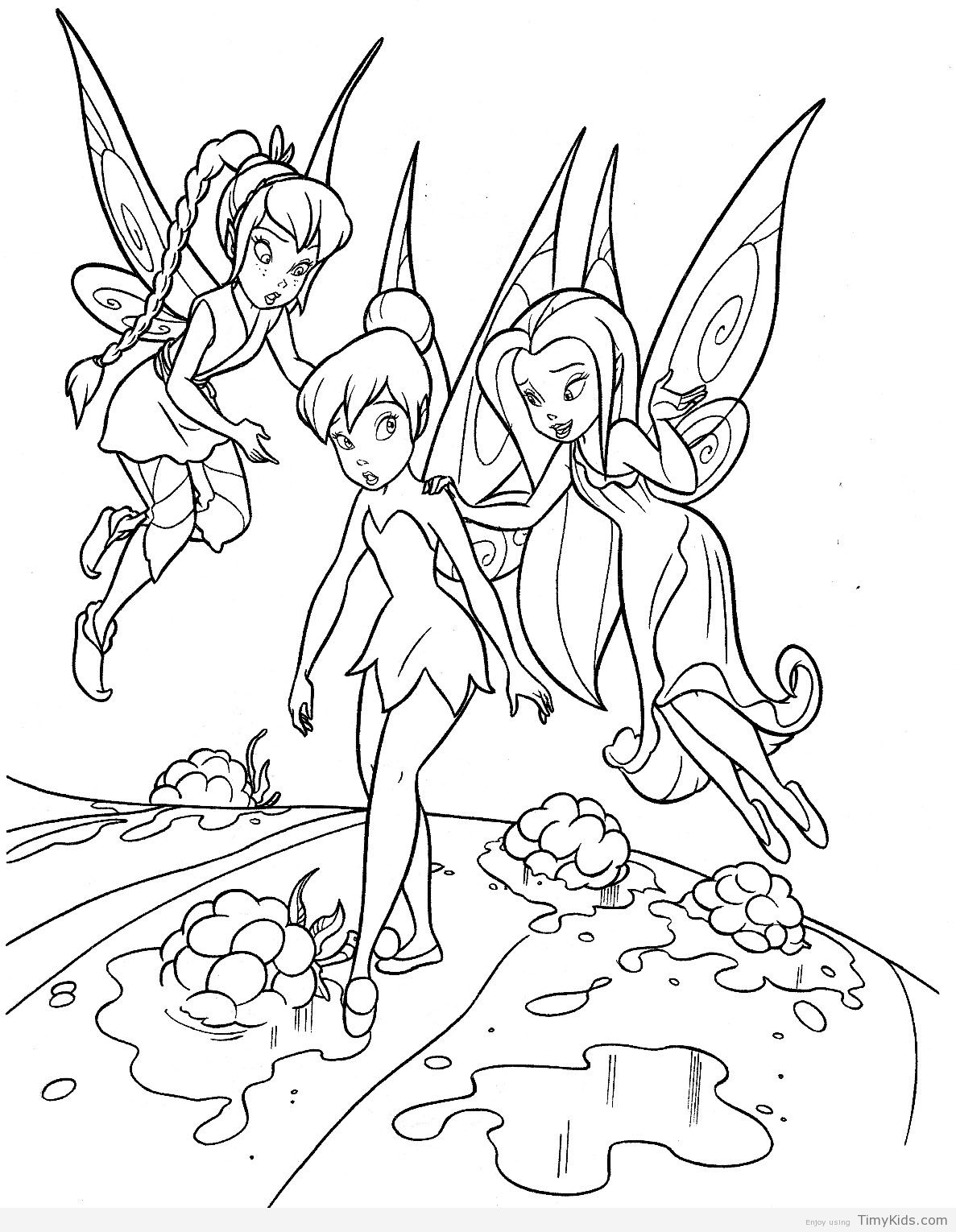 tinkerbell color page | Fairy coloring pages, Fairy ...