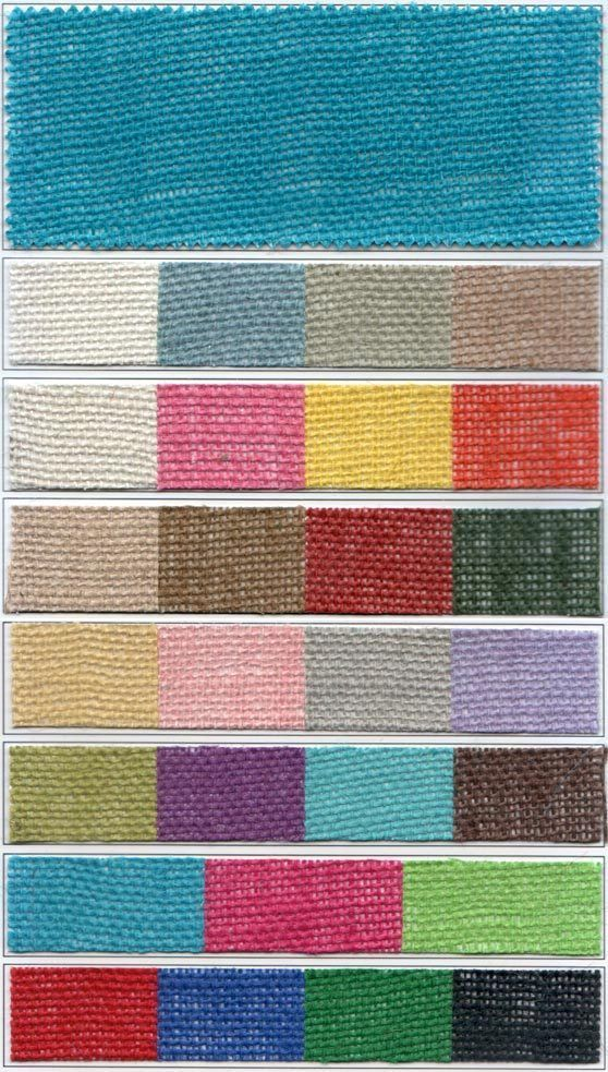 "Colored Burlap 48"" wide 8.5oz By The Yard"