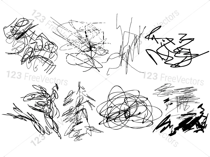 Scribble Vector and Brush Pack02 in 2020