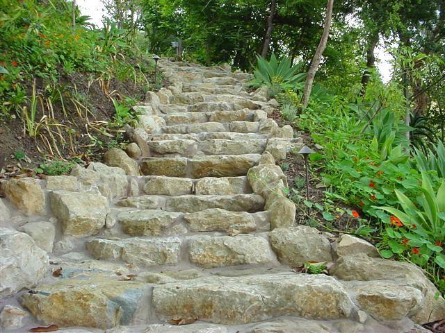 Natural Stone Walkway, Steps