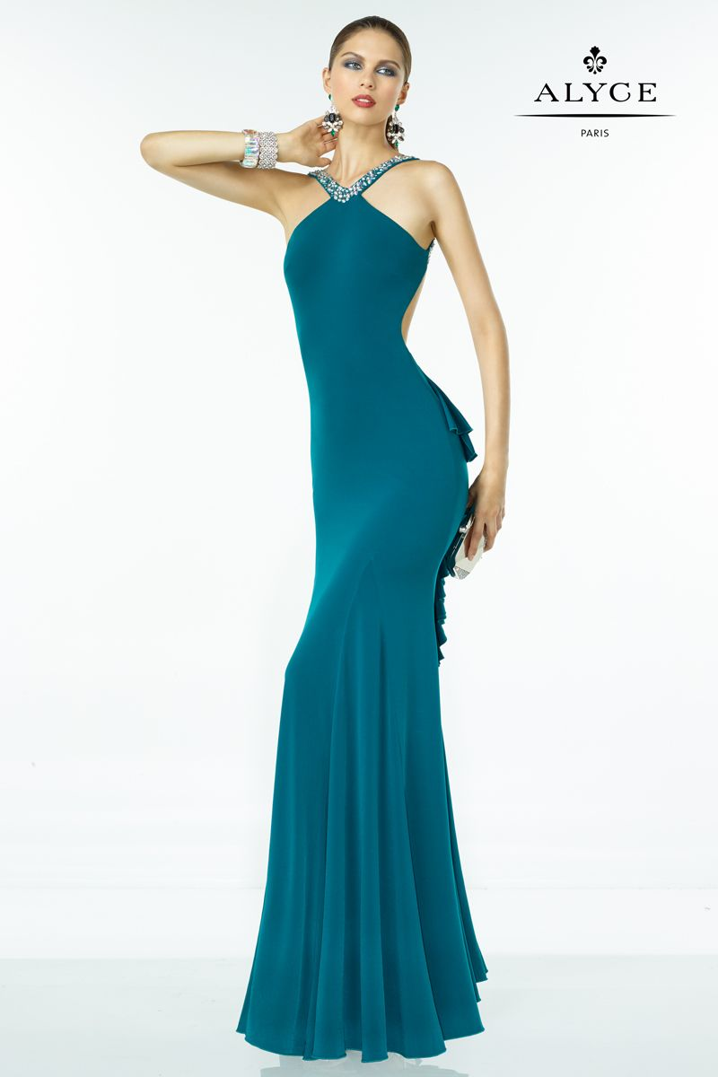 35817 Bustled strapless halter gown from BDazzle by Alyce Paris ...