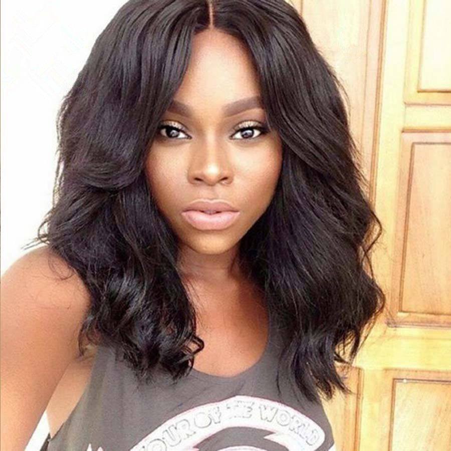 indian remy hair loose body wave glueless lace part lace wig