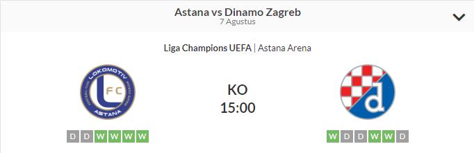 Prediksi Bola Astana Vs Dinamo Zagreb Betting Skor Bola 07 Agustus 2018