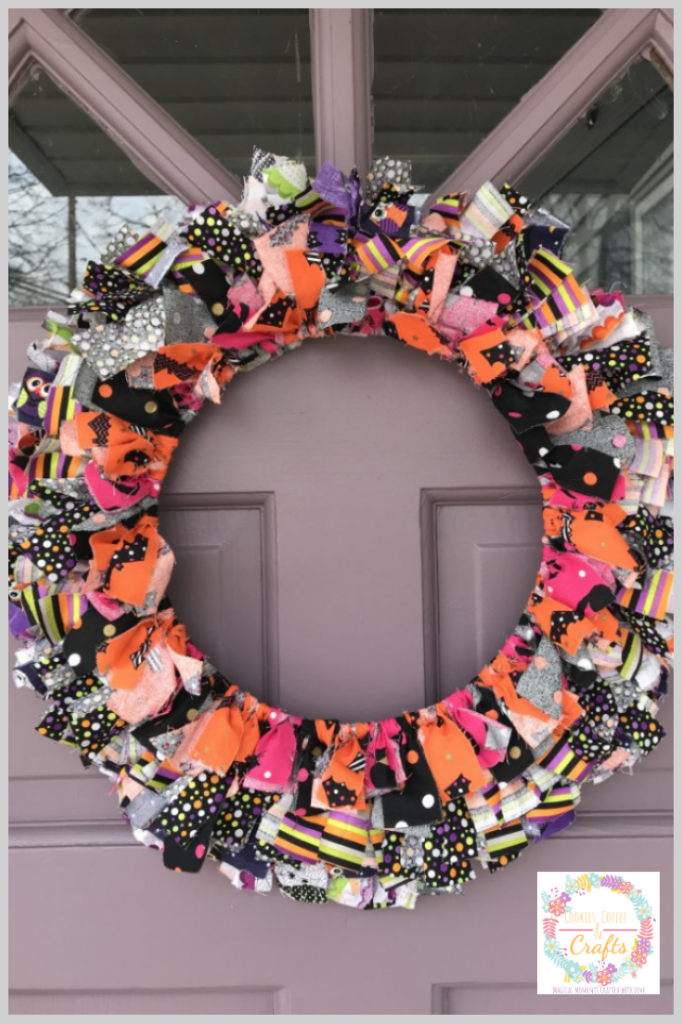 Photo of Halloween Fabric Wreath – Cookies Coffee and Crafts