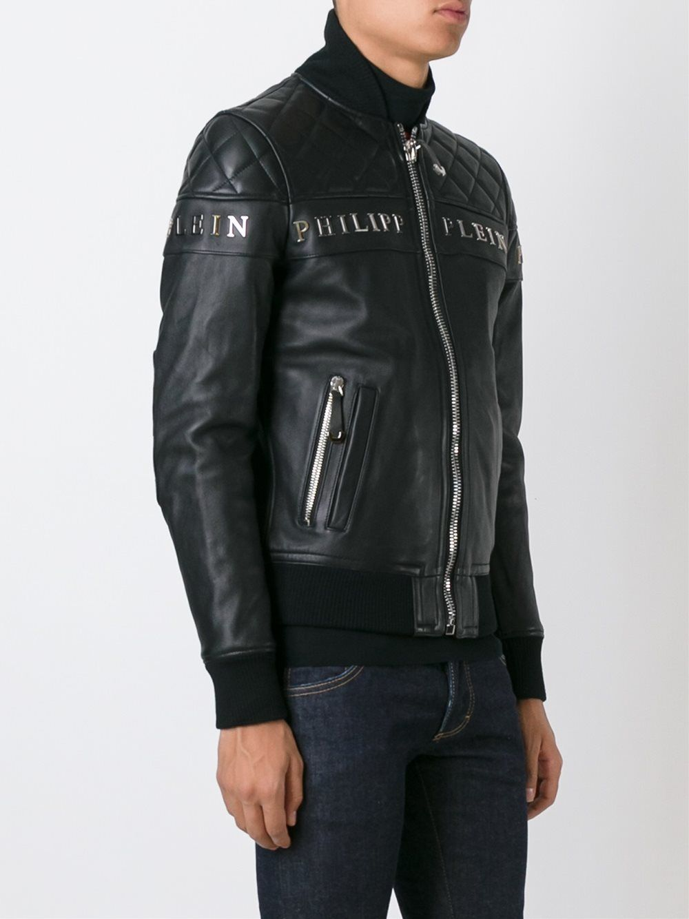 Superdry Hero Leather Racer Jacket in Black for Men Lyst