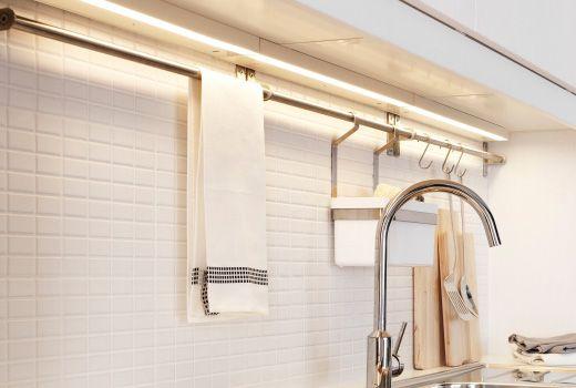 Eclairage De Cuisine Intégré IKEA Cuisine Pinterest - Spot sous meuble cuisine ikea pour idees de deco de cuisine