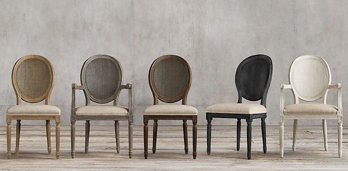 Vintage French Round Cane Back Restoration Hardware French Dining Chairs Restoration