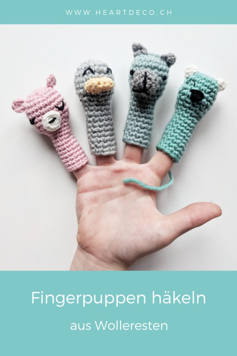 Photo of Häkeln Sie Fingerpuppen aus Wollfetzen – HeArtDeco – Ihr Geschäft für Sicherheitsaugen und Häkelzubehör