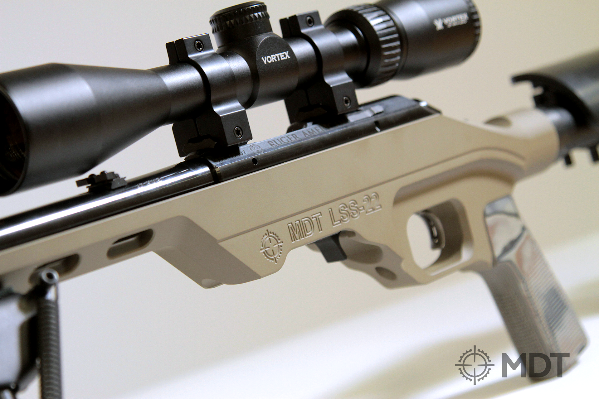 MDT LSS-22 now also compatible with  17HMR and  22WMR   Guns