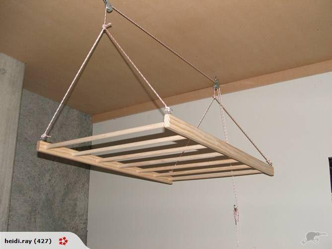 hanging wooden drying rack 1200 x 600