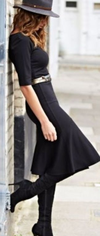Classic, all black.