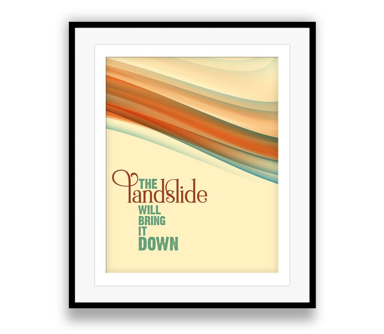 Fleetwood Mac / Landslide - Music Lyric Artwork Stevie Nicks Home ...