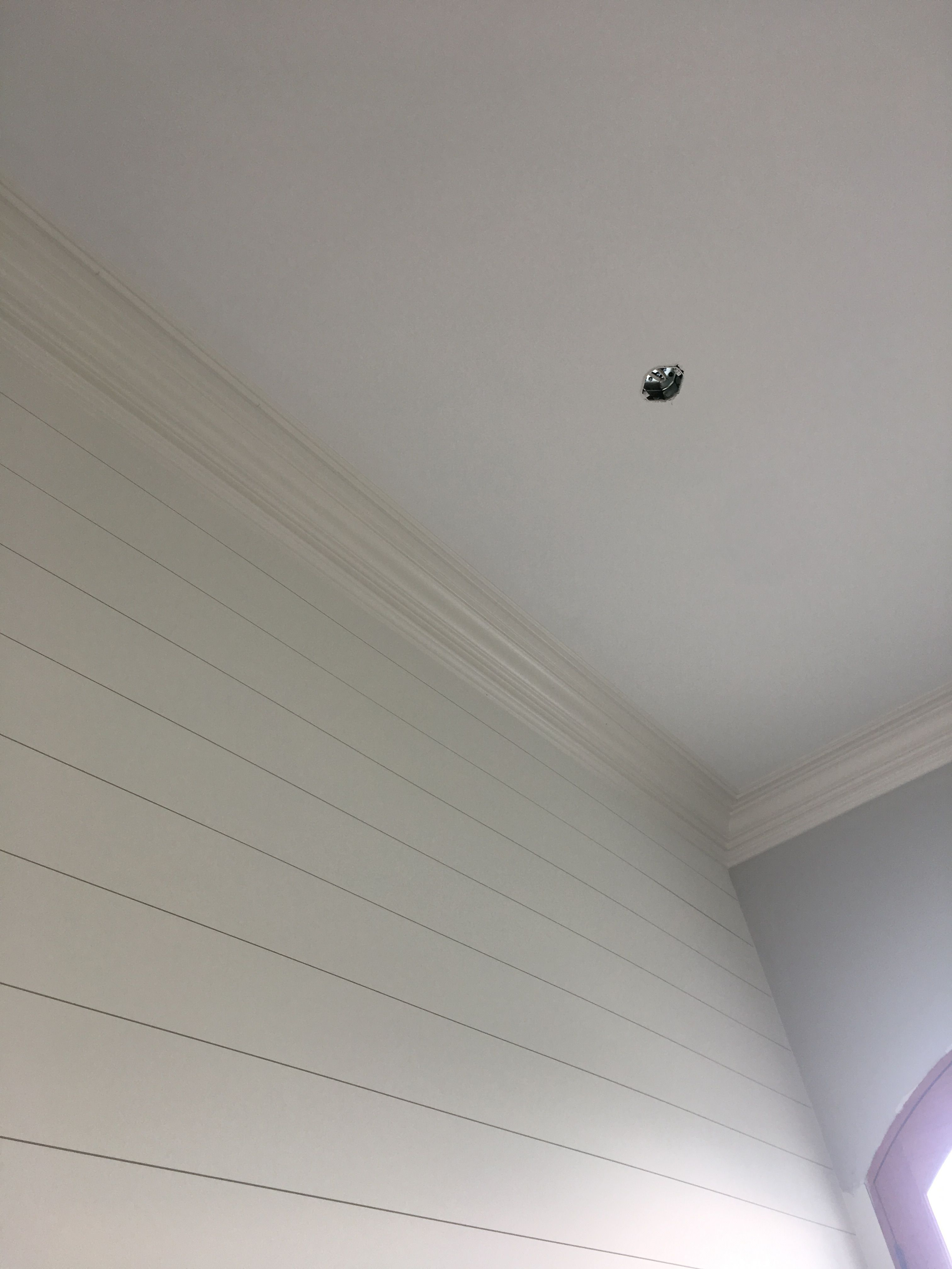Sherwin Williams Alabaster White Shiplap And Extra White Ceiling
